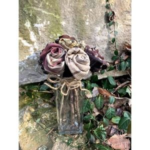 Mothers Day Brown Rose Bouquet upcycled tie